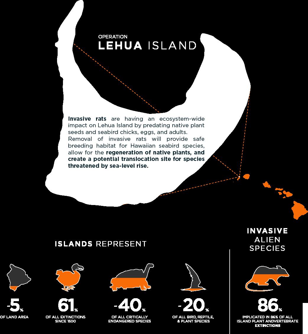 Lehua island Hawaii project infographic