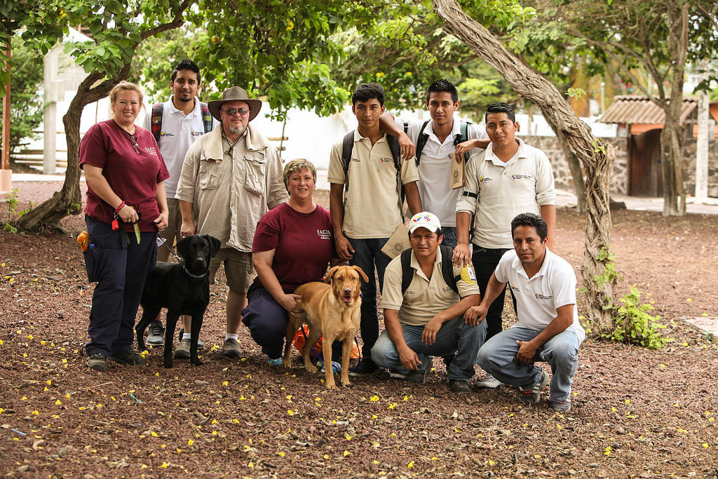 Staff from Dogs for Conservation and Galapagos Biosecurity Agency with_16697628768_l