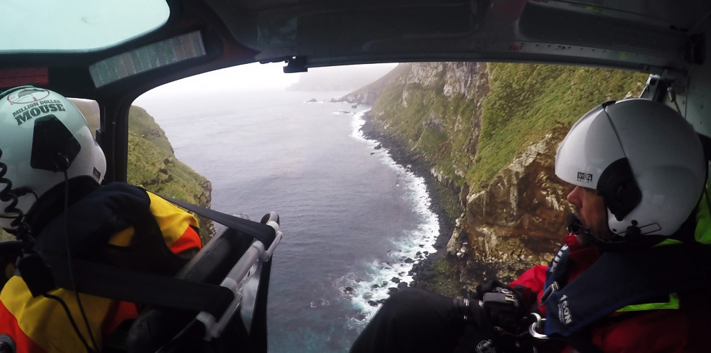 Island Conservation million dollar mouse, antipodes islands jose luis herrera new zealand aerial helicopter