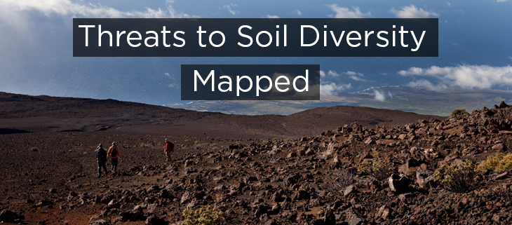 Island Conservation Threats to soil diversity mapped