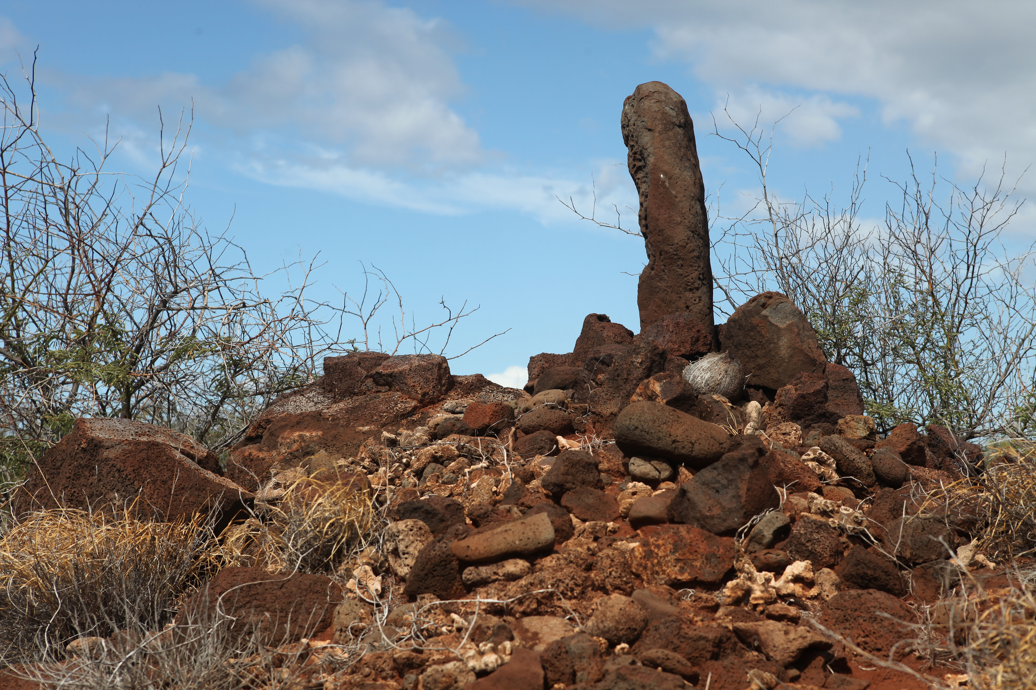 Island Conservation Rock structure on Kahoolawe