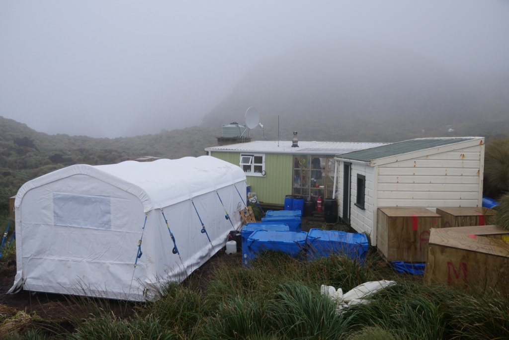 Island Conservation Shelters on Antipodes Island