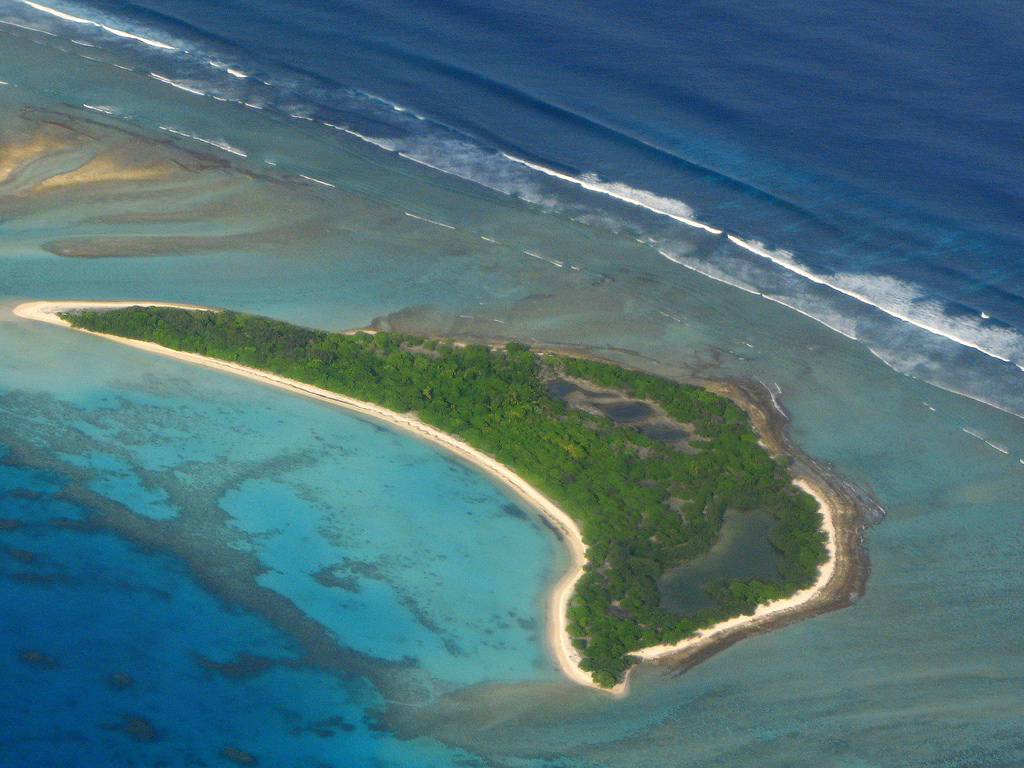island conservation science aerial view of island