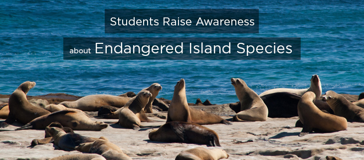 island conservation students raise awareness