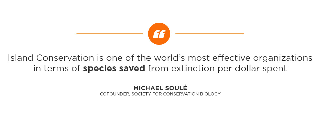 Island Conservation science preventing extinctions quote by michael soule
