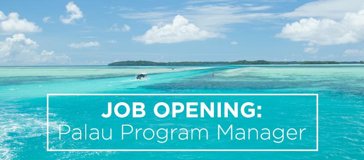 island conservation job opening palau program manager island