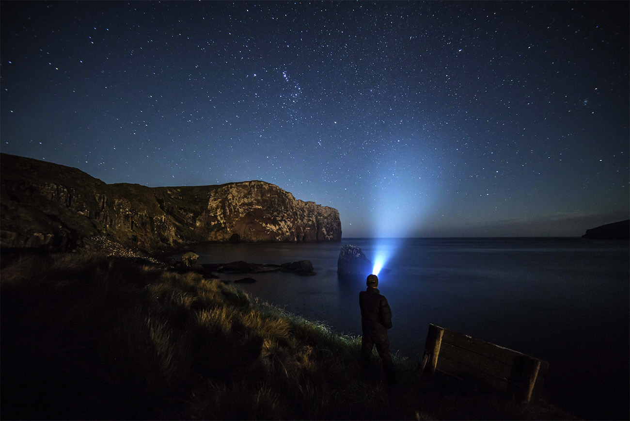 island Conservation antipodes island anchorage bay night photography