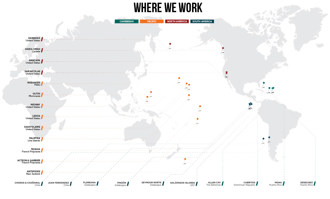 Island conservation map projects